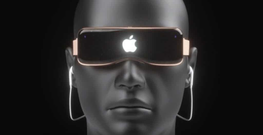 visore vr apple controllabile occhi