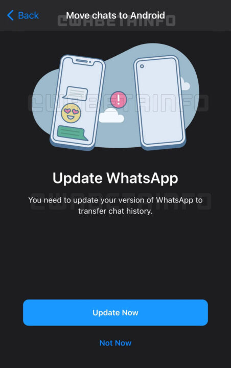 whatsapp chat transferencia ios android